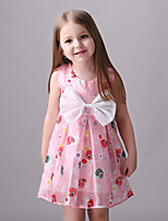 Girl's Casual/Daily Print DressCotton / Polyester Summer / Spring Pink