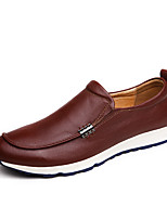 Men's Shoes Outdoor / Office & Career Leather Oxfords Black / Blue / Brown / White / Orange
