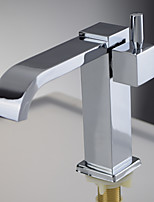 Deck Mounted Single Handle One Hole Brass in Chrome Bathroom Sink Faucet Basin Tap Cold Water Spout
