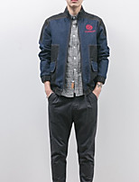 Men's Long Sleeve Jacket,Others Casual Print