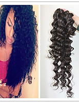 4Pc/Lot 7A Indian Unprocessed Human Hair Deep Wave Natural Color Hair Extension Weft Hair Weave Bundles