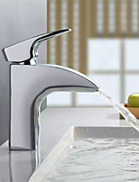 PHASAT® Centerset Single Handle One Hole in Chrome Bathroom Sink Faucet