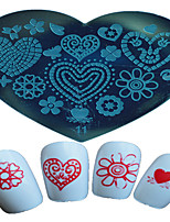 1pcs Nail Art Heart-shaped Stamping Template Butterfly Star Flower Beautiful Image Design Nail Art Tools 11-15