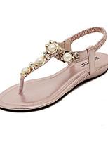 Women's Shoes Pearl Glisten Flipflop Elegance Low Heel Comfort / Open Toe Sandals Dress / Casual