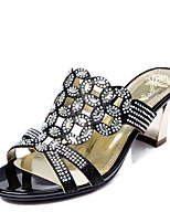 Women's Shoes Glitter / Customized Materials Chunky Heel Comfort Sandals Wedding / Party & Evening / Dress