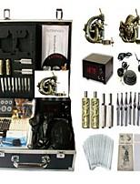 Basekey Tattoo Kit K0142 2Guns Machine With Power Supply Grips Cleaning Brush  Needles
