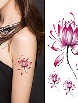 Women Lotus Flower Tattoo Temporary Tattoo Stickers Temporary Body Art Waterproof Tattoo
