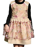 Girl's Brown / Pink / Red Dress Polyester Spring / Fall