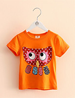 Cartoon Owl T-shirts 2016 Summer Style New Children's Clothing Unisex T-shirt Kid Clothes Baby Casual Cotton
