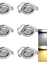 3W Lampes Encastrées 3 LED Haute Puissance 280 lm Blanc Chaud / Blanc Froid Décorative AC 85-265 / AC 100-240 / AC 110-130 V 6 pièces