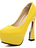 Women's Shoes Leatherette Stiletto Heel Heels Heels Party & Evening Black / Yellow / White