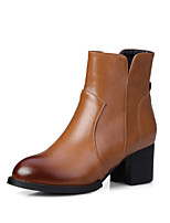 Women's Shoes Synthetic / Leatherette Chunky Heel Platform / Round Toe BootsWedding / Outdoor / Office & Career