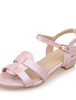 Women's Shoes Low Heel Sling back/Gladiator/Open Toe Sandals Office & Career/Dress Pink/Purple/White