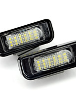 2PCS Ben-z W220 LED License Plate Lamp 12V 14W LED with Special LED Decorder