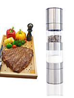 2 in 1 Manual Stainless Steel Kitchen Salt and Pepper Mills Grinder Muller