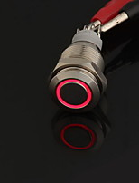 12V Red LED Metal Switch Push Button Latching Momentary 16mm