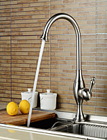 Tub And Shower Single Handle One Hole in Nickel Brushed Bathroom Sink Faucet