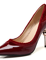 Women's Shoes Velvet/Stiletto Heel/Pointed Toe Heels Wedding Shoes/Party & Evening/Dress Black/Red