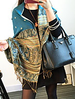 Ms. Bohemian Ethnic Style Bee Printing Embroidered Fringed Shawls Scarves