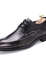 Chaussures Hommes Mariage / Bureau & Travail / Habillé / Décontracté / Soirée & Evénement Noir / Marron Synthétique Richelieu