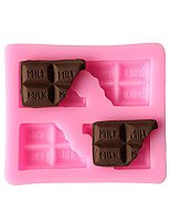 3D Chocolate Half Pieces Liquid State Modeling Chocolate Silicone Cake Mold