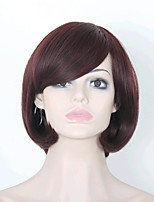 Women's Exquisite Medium Length Straight Multi-color Wig