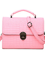 Women PU Baguette Shoulder Bag-Pink / Purple / Gray / Black