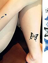 1 sheet Sex Product Tattoo Sticker Beauty Butterfly Pattern Waterproof Temporary Tattooing Paper Body Art Temporary