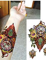 HC-Tatuajes Adhesivos-Waterproof-Series de Animal-Mujer / Hombre / Adulto-Multicolor-PVC-1pcs-19*12cm-owl