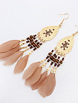 Mix Colors Long Tassel Drop Earrings 2016 FashionBig Earrings Jewelry For Women Satement Accessories