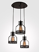 40W Pendant Light ,  Rustic/Lodge Painting Feature for Mini Style Metal Dining Room / Study Room/Office / Game Room / Garage