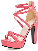 Chaussures Femme-Habillé / Soirée & Evénement-Noir / Rose / Blanc / Pêche-Talon Aiguille-Talons / A Plateau / Bout Ouvert-Sandales-