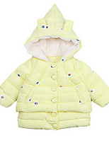 Girl's Pink / Yellow Jacket & Coat,Floral Cotton Spring / Fall