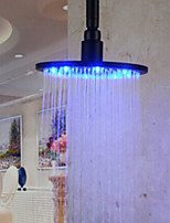 Monochrome LED Shower Nozzle Top Spray Shower Nozzle (Blue)(12 Inch)