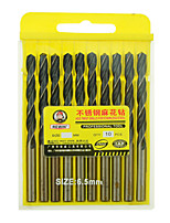 REWIN® TOOL Stainless Steel Cobalt-containing Twist Drill Diameter:6.5mm With 10pcs/box