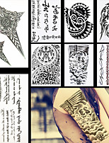 8PCS Trendy Feather Letter Flower Shoulder Diy Waterproof Temporary Tattoo for Women Men Body Art Tattoo Sticker Design
