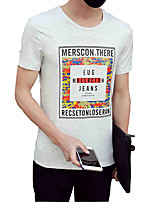 The new summer fashion personality Men T-shirt printing T-shirt slim Japanese Korean half sleeve Metrosexual