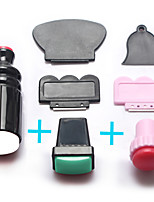 3sets  Nail Art Stamper Scraper Kits DIY Nail Stamp Stamping Template Print Transfer Manicure Tools