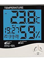 Humedad mete LCD Digital HTC-8 instrumentos de temperatura la temperatura del termómetro higrómetro reloj medidor de humedad