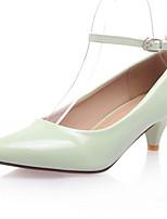 Women's Shoes PVC / Leatherette Kitten Heel Heels Heels Wedding / Office & Career / Dress / CasualBlack / Yellow