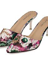 Women's Shoes Silk Summer Heels Outdoor / Casual Stiletto Heel Red