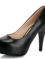 Women's Shoes Leatherette Stiletto Heel Heels Heels Party & Evening Black / Beige