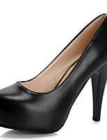 Zapatos de mujer-Tacón Stiletto-Tacones-Tacones-Fiesta y Noche-Semicuero-Negro / Beige