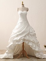 A-line Wedding Dress-Court Train Sweetheart Satin