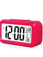grande LCD tela de relógio eletrônico relógio preguiçoso luz soneca indução despertador inteligente de alarme (cores sortidas)