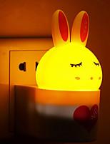 indução som quente coelho branco sensor de luz criativa relacionada à luz bebê noite de sono (cores sortidas)