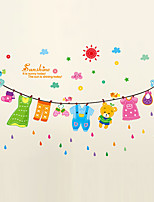 Wall Stickers Wall Decals Style Sun Drying Line PVC Wall Stickers