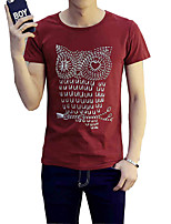 The summer of 2016 new men's casual T-shirt shirt sleeve pure semi thin SHIRT MENS tide