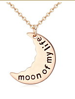 Fashion Trendy Style Jewelry Moon Pendant Gold Alloy Necklace For Lady Women Accessories