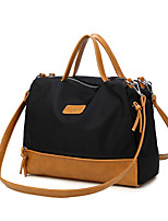 Women PU / Nylon Weekend Bag Shoulder Bag-Brown / Black